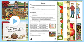 KS1 Harvest Class Assembly Pack - Festival, Autumn, Food, Farm, Celebration