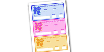 The Olympics Weightlifting Event Tickets - weightlifting, lifting, weights, Olympics, Olympic Games, sports, Olympic, ticket, entry, tickets, event, London, 2012, activity, Olympic torch, medal, Olympic Rings, mascots, flame, compete, events, tennis,