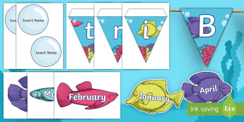 Under the Sea Themed Birthday Display Pack - Under the Sea Themed Birthday Display Pack - birthday, display, pack, bithday, sea, fish, under, udn