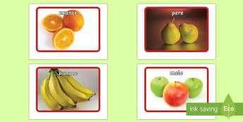 Flashcard sulla Frutta - flashcard, frutta, alimenti, colori, italiano, italian, scrittura, indipendente