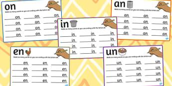 n Rime Mats - rime, cards, rhyme, words, activity, word, card, n