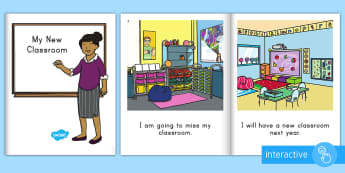 Classroom Transition Emergent Reader eBook - Transition, new class, new year, new term, reading, early reading, digital book