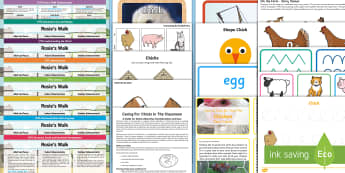 EYFS Lesson Plan Enhancement Ideas and Resources Pack to Support Teaching on Rosie's Walk - Early Years, early years planning, continuous provision, adult led, 'Rosie's Walk' Pat Hutchins, farm, hen, chicken, chicks