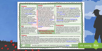 Remembrance Day Lesson Plan Ideas KS2 - rememberance day, KS2