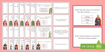 KS4 Macbeth Quotation Quiz Flashcards - GCSE, Macbeth, Quotations, Quote, Quotes, Quiz, Key quotes, Key quotations, KS4