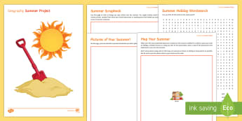 Geography Summer Project Booklet - Secondary Transition Resources geography summer project