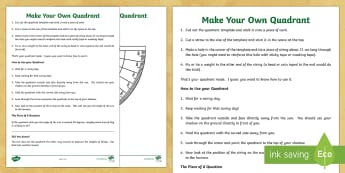 Make Your Own Quadrant Activity Sheet - pirates, pirate ships, sound stories, sound story, what are sound stories, international talk like a