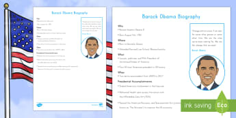 Barack Obama Fast Facts Fact File - American Presidents, American History, Social Studies, Barack Obama, Lyndon B. Johnson, Franklin D.