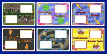Bonfire Night Group Fireworks Table Signs - bonfire night, fireworks, table signs, signs, class groups, teaching groups, table labels, signs for groups