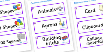 Amethyst Themed Editable Classroom Resource Labels - Themed Label template, Resource Label, Name Labels, Editable Labels, Drawer Labels, KS1 Labels, Foundation Labels, Foundation Stage Labels, Teaching Labels, Resource Labels, Tray Labels, Printable