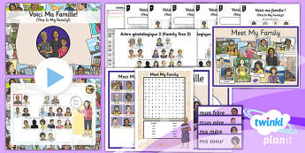 PlanIt - French Year 3 - Family and Friends Lesson 1: Meet My Family Lesson Pack - french, languages, family, relations