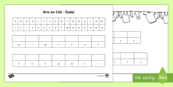 Crack the Code Clothing Activity Sheet Gaeilge - ROI, Clothes, Gaeilge, colour, vocabulary, vocab, words, worksheet, phrase, language, Éadaí,,code,
