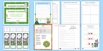 Grandparents Day K-2 Activity Pack - Writing, Card, Craft, Grandparent's Day,  nanna, grandad