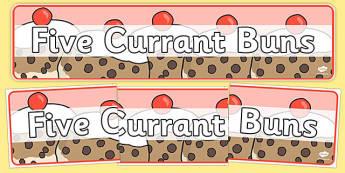 Five Currant Buns Display Banner - five currant buns, display banner, display, banner