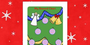 Christmas Sticker Reward Chart (30mm) - Christmas Sticker Reward Chart, christmas, xmas, santa, reward chart, chart, reward, 30mm, 30 mm, stickers, twinkl stickers, award, certificate, well done, behaviour management, behaviour, christmas meal, crack