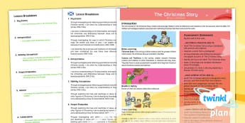 CfE Second Level Year 6 The Christmas Story Overview - CfE Planit Overviews, planning, RME, Christmas Story, Nativity, Advent, Second, Christianity