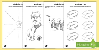 Bledisloe Cup Pencil Control Activity Sheets - bledisloe Cup, pencil control, rugby, australia, new zealand, fine motor, wallabies, all blacks,Aust