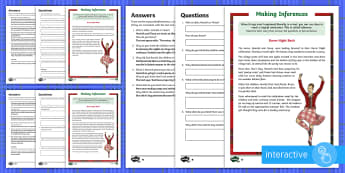 Burns Night Bash Inference Go Respond Activity Sheet - KS2, Burns Night, story, inference, feelings, thoughts, motives, actions, justify, evidence, workshe