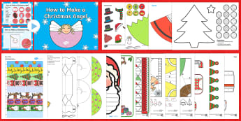 Christmas Paper Craft Pack - christmas, craft, pack