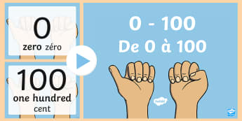 0-100 Numerals and Words Maths Counting PowerPoint English/French - 0 100 Numerals and Words Maths Counting PowerPoints - romans, countng, couting, numberals, coutning,