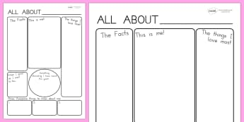 All About Me Poster Template - all about me, ourselves, me