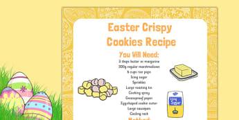 Easter Crispy Cookies Recipe - Easter, cooking, recipe, crispy cookies