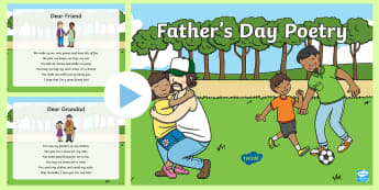 Father's Day Poetry PowerPoint - poem, insert, verse, card,