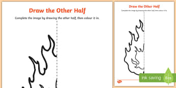 The Great Fire of London Draw the Other Half Activity Sheet, worksheet