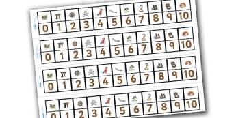 Frise numérique de 1 à 10 : Les pirates - numération, nombres, mathématiques, cycle 1, cycle 2, affichage, maths