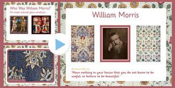 William Morris PowerPoint - william morris, powerpoint, information, famous, artist