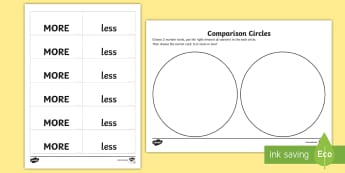 EYFS Compare Circles Maths Activity Mat - EYFS Compare Circles Maths Activity Mat - EYFS Maths General, more, less, number, comparison, more o