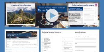 The Lost City: Picture Stimulus Lesson Pack  - Creative, writing, sentence structure, picture response,