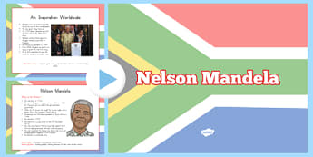 Nelson Mandela Informative PowerPoint - usa, writing, nelson mandela, significant individual