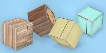 Textured Paper Model Building Blocks 2 - building, blocks, minecraft