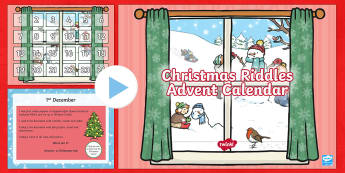 Christmas Riddles Advent Calendar PowerPoint