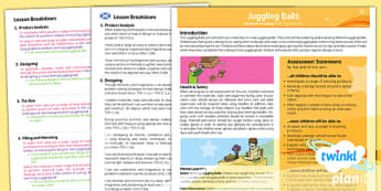 PlanIt - Design and Technology LKS2 - Juggling Balls Planning Overview CfE - planit, overview, cfe