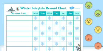 Winter Fairytale Reward Sticker Chart - winter, reward, sticker