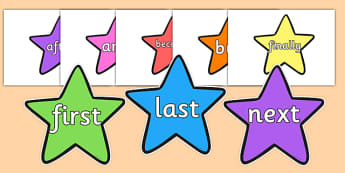 Conjunctions on Stars (Multicolour) - Connectives, VCOP, Display