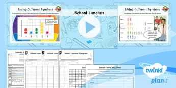 PlanIt Y3 Statistics Lesson Pack Charts and Graphs (4) - Statistics, bar chart, tally chart, data handling, scale, pictogram, 10:1, interpret and present dat