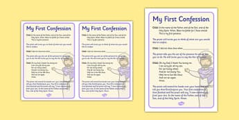 Sacrament of Reconciliation Rite of Penence Order - religion , religious education , first confession , first penance , first reconciliation , reconciliation , examination of conscience , sins , prayer , forgiveness , prepare for first confession, ro
