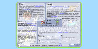 Space Lesson Plan Ideas KS1 - space, lesson, plan, lesson plan, space lesson, KS1, KS1 space, KS1 lesson plan, KS1 ideas, lesson ideas, space lessons