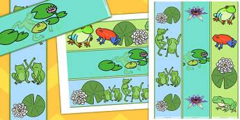 Frog Themed Display Borders - frog, themed, display borders, borders