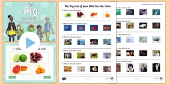 UKS2 The Big End of Year Odd One Out Quiz Pack - End of the School Year Transition Activities