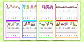 Desk Placemats to 10 - writing, aids, numbers, letters, alphabet, desk,