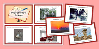 Ten Picture Stimulus Writing Prompts Cards - ten, picture, stimulus, writing prompts