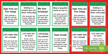 The  Kind Christmas Elves Staff Cards - Christmas, Elf, Elves, Kindness, Kind, Friends, Secret Santa