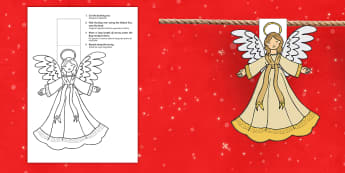 Christmas Angel Display Bunting English/Italian - Christmas Angel Bunting - christmas, angel, bunting, display, chritmas, chriatmas, christms, christa