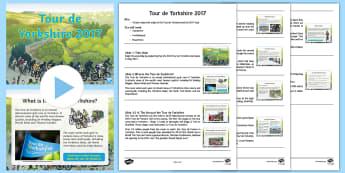 KS2 Tour De Yorkshire 2017 Assembly Pack - Tour de Yorkshire, Tour de France, Bicycle, Race, Cycling, Racing, Assembly, Script, PowerPoint, Cyc