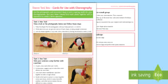 Choreography: Being Upside Down Activity Sheet - dance, choreography, motif, dance composition, contemporary dance, worksheet