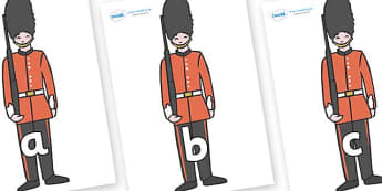 Phase 2 Phonemes on Royal Guards - Phonemes, phoneme, Phase 2, Phase two, Foundation, Literacy, Letters and Sounds, DfES, display